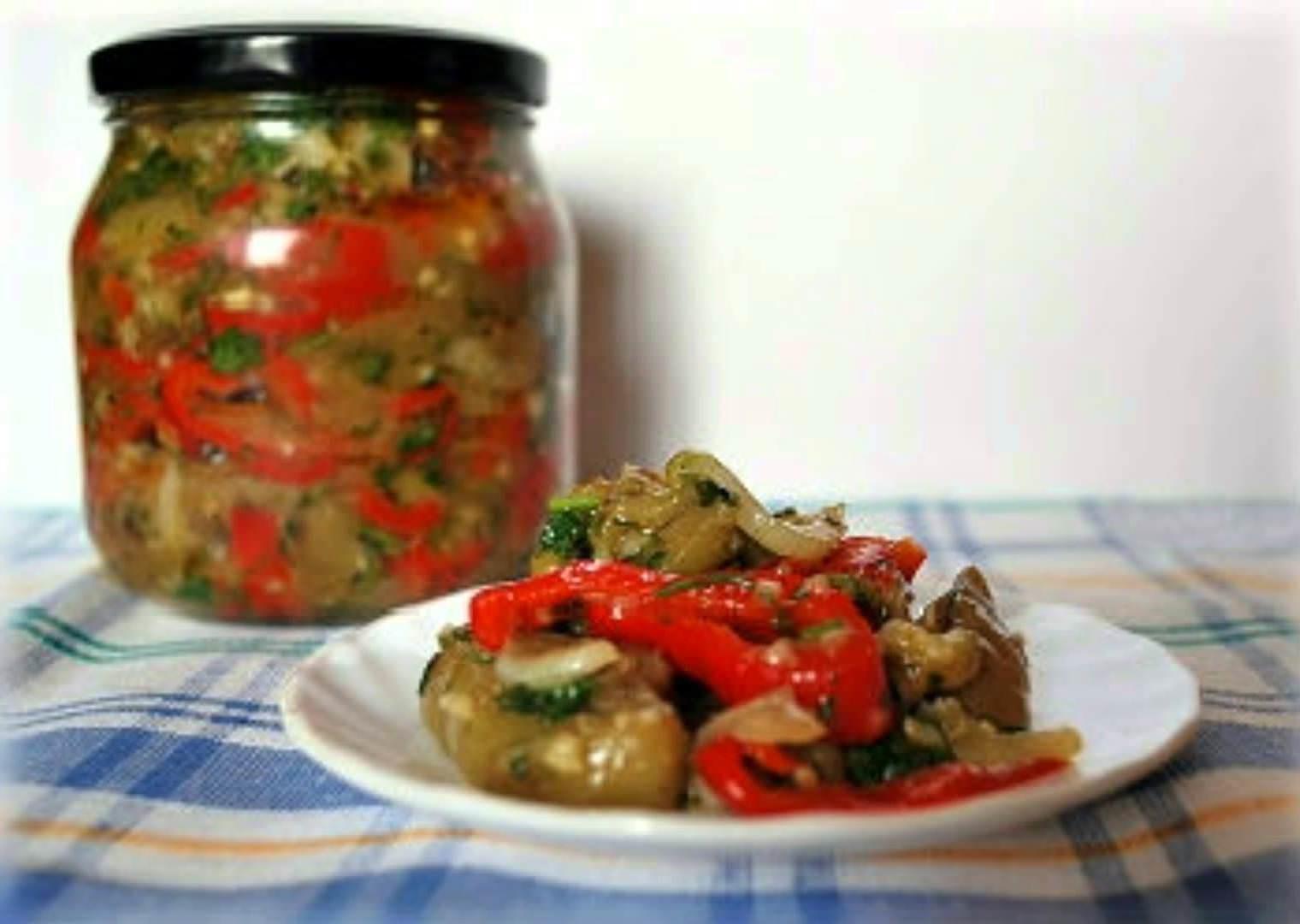 Заготовки на зиму салат из баклажанов рецепты с