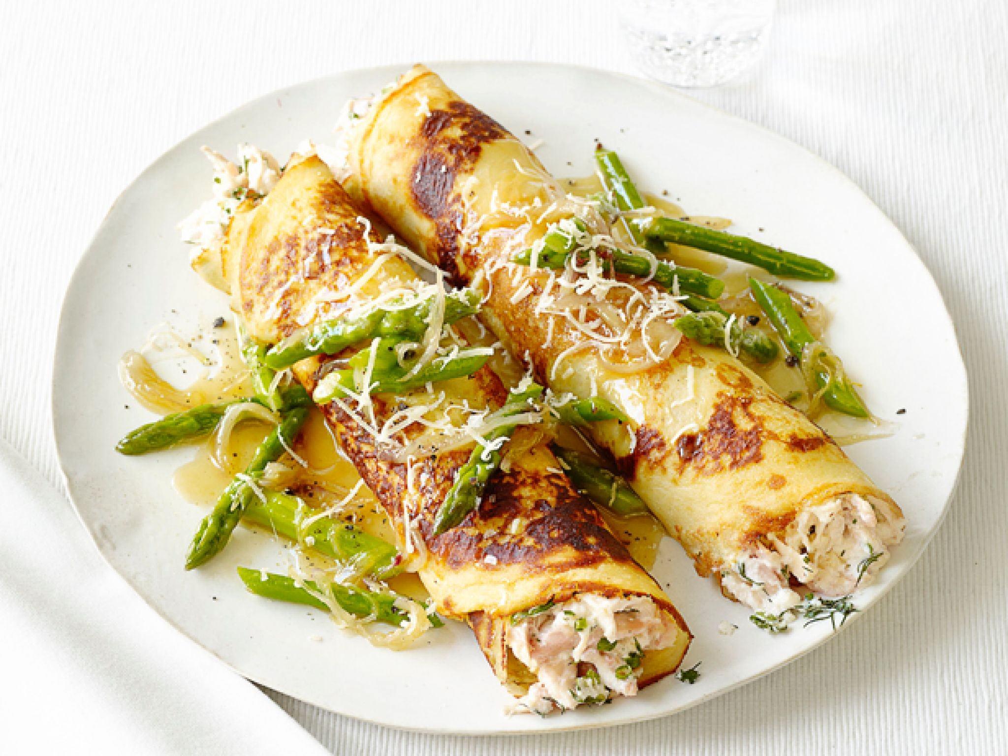 Блины с курицей и сыром рецепт с пошаговым