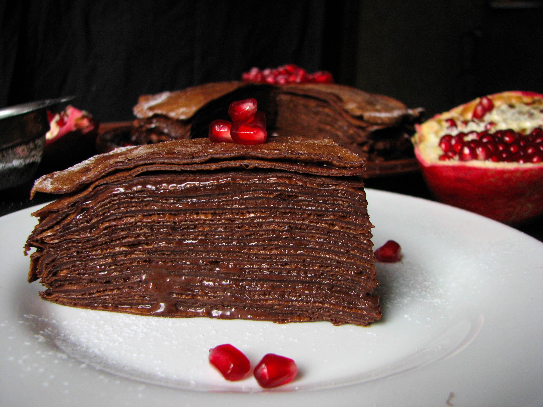 Блинный шоколадный торт рецепт с фото пошагово в домашних условиях
