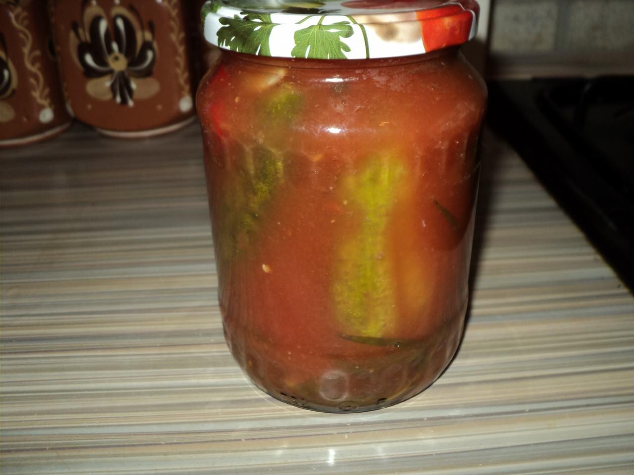 Рецепты огурцов в томатном соке на зиму