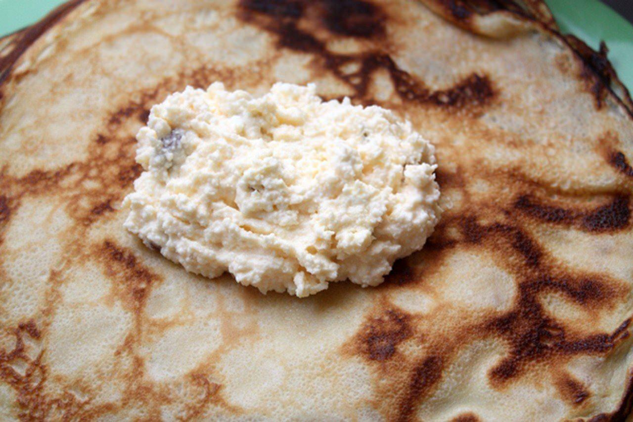 Блинчики с творогом рецепт пошагово для заморозки