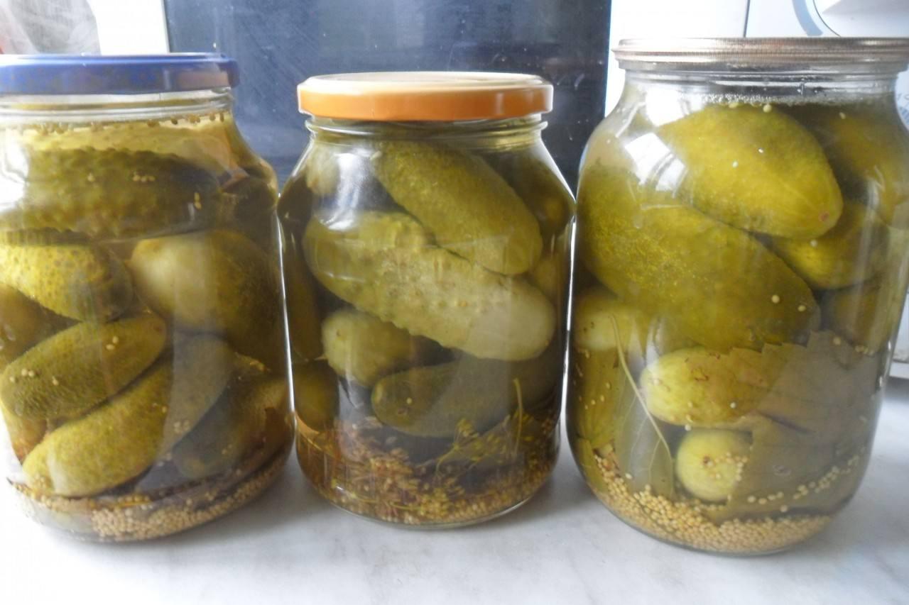 Маринованные огурцы с горчицей на зиму рецепт
