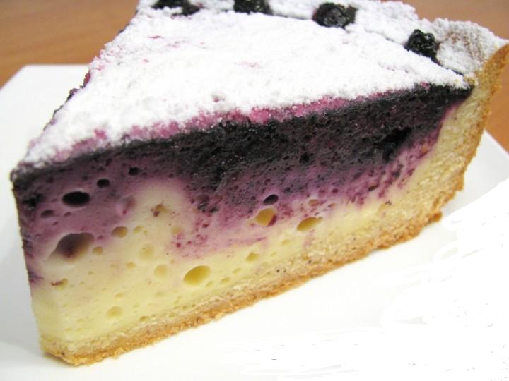 Творожные кекс с черникой